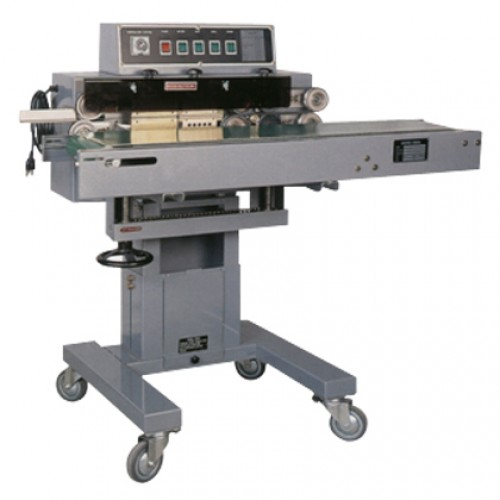 Continuous Sealer is a stand model, performing horizontal sealing operation. It combines the functions of bag sealing, knurling or printing. The variable conveyor belt speed is adjustable to accommodate materials of various thickness.